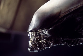 Close-up image of an Alien from the movie Aliens