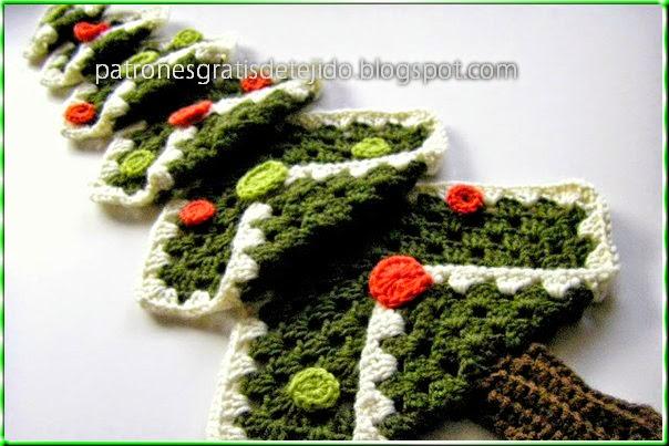 de navidad al crochet con squares   paso a paso crochet y dos agujas