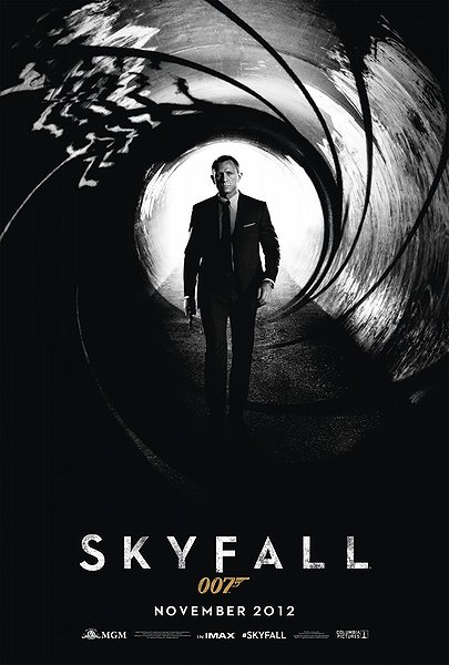 skyfall movie poster, imax, daniel craig