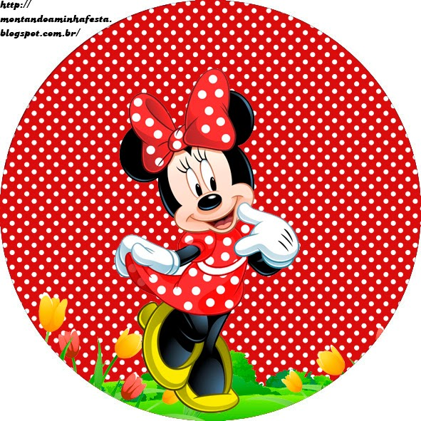 Decoracion Minnie Roja ~ Etiquetas para Candy Bar para Fiestas de Minnie rojo  Ideas y