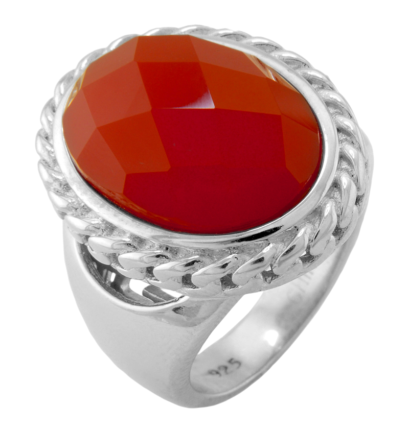 Elle Jewelry Red Agate Ring