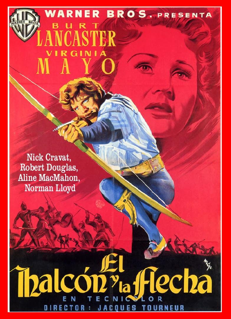 El Halcon y la Flecha [1950]  Caratula, cine clásico