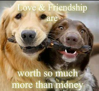 Love & friendship are worth so much more than money.