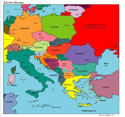 Mapa de Europa País Político