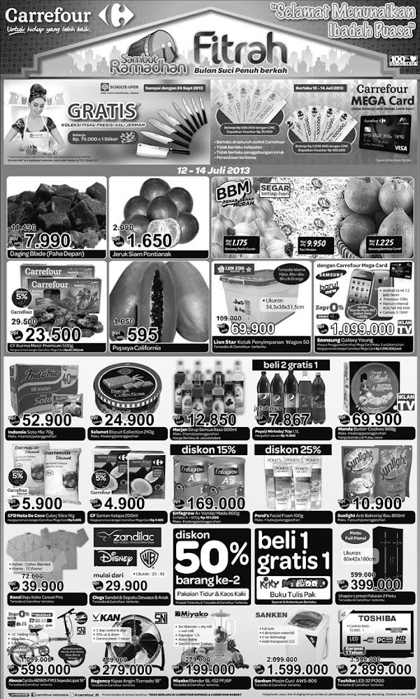 Katalog Carrefour Weekend Promo Terbaru Periode 12 – 14 Juli 2013