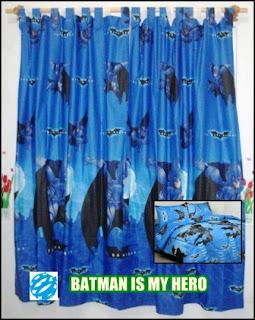 Jual Gorden Batman Murah, Gorden Anak Motif Batman, Gorden Karakter Kartun Batman