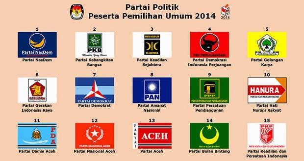 15 Partai Pemilu 2014