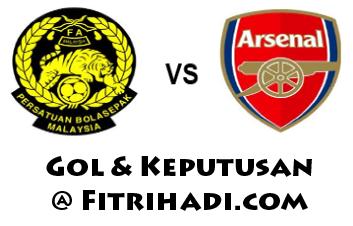 video gol keputusan malaysia arsenal 24 julai 2012