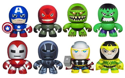 Comic Book Edition The Avengers Mini Mighty Muggs 2 Packs by Hasbro - Captain America vs. The Red Skull, The Incredible Hulk vs. The Abomination, Iron Man vs. Iron Monger & Thor vs. Loki