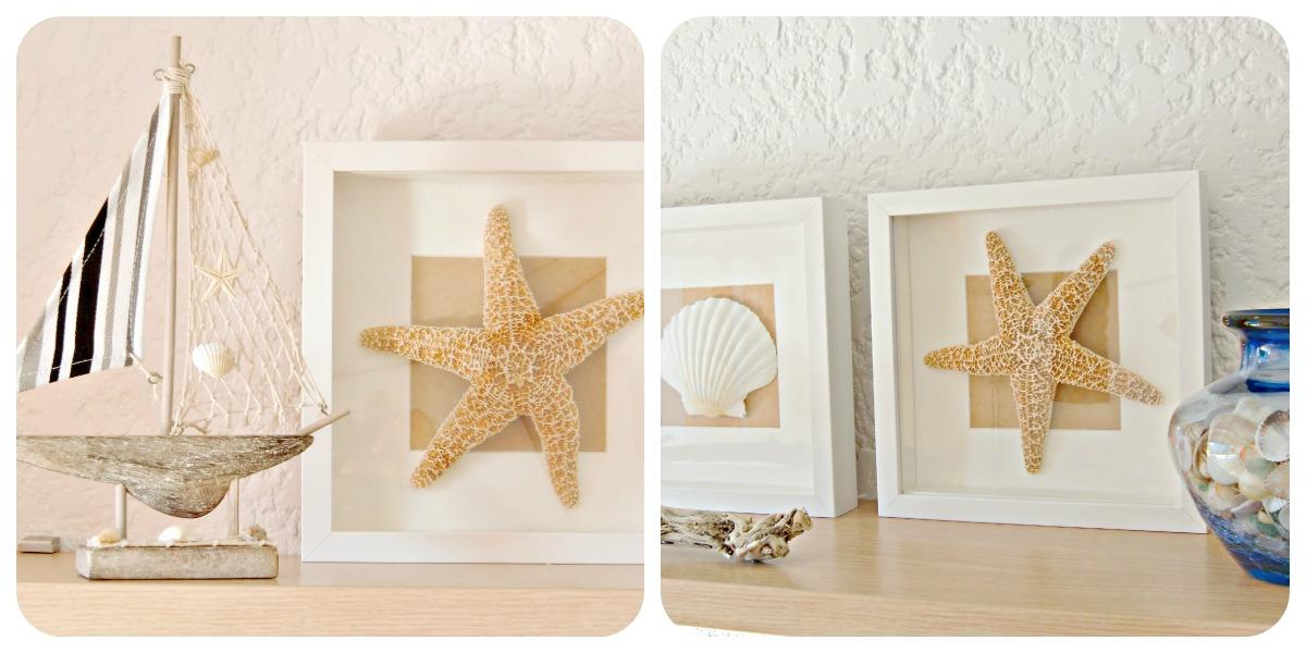 Vicky 39 s home diy cuadros de conchas y estrellas de mar - Decoracion con conchas ...