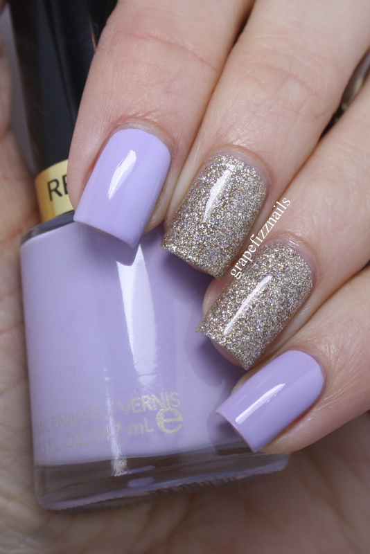 Grape Fizz Nails: Revlon Charming Accent Mani