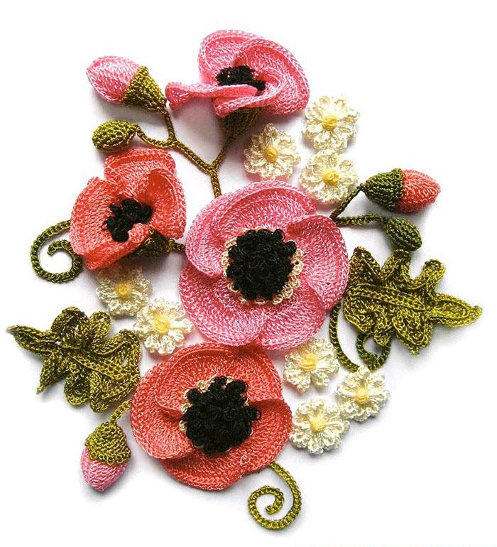 Free Crochet Pattern For Poppy Flower : Share Knit and Crochet