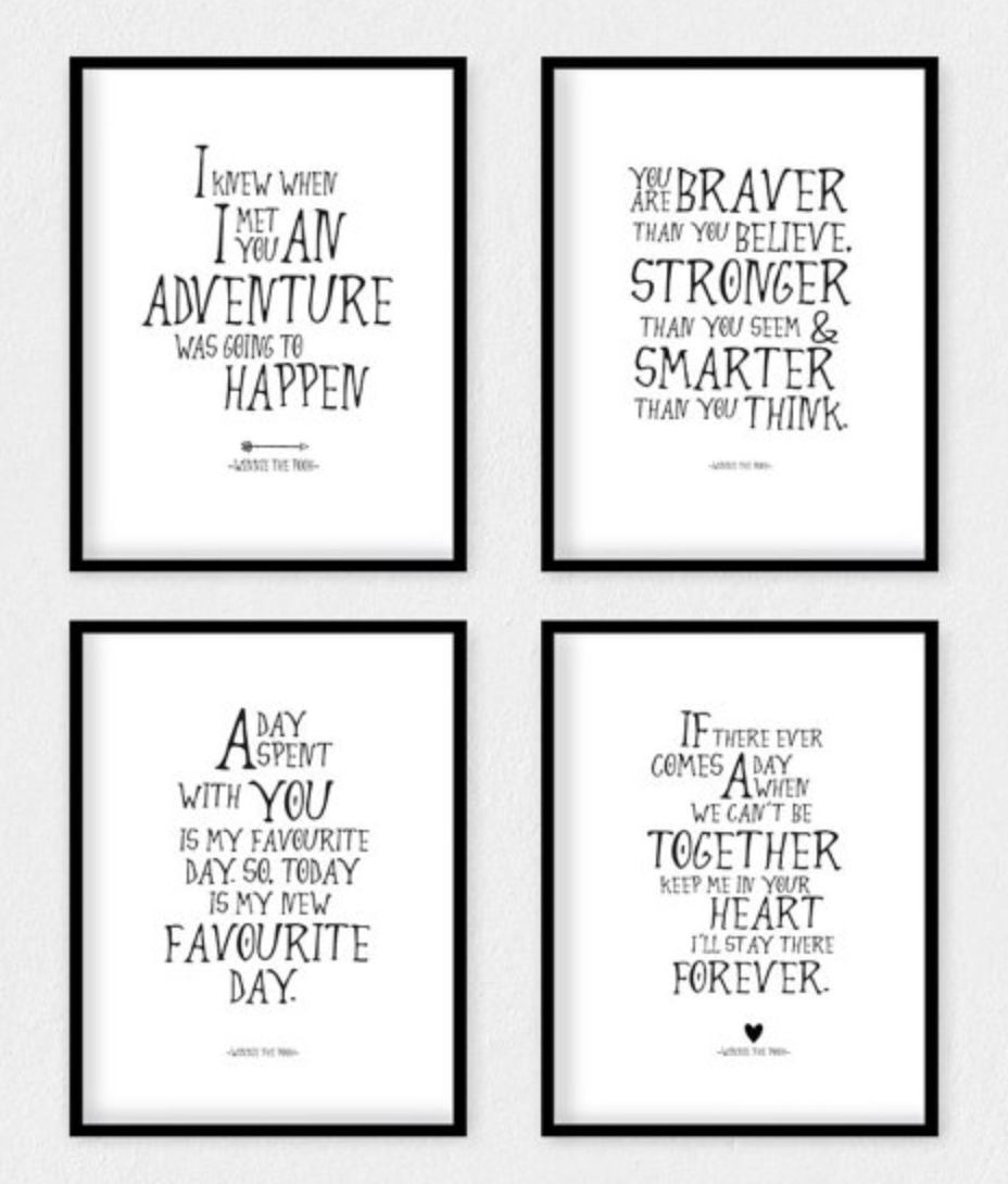 Winnie the pooh framed pictures choice image craft decoration ideas art r us best art print posters toronto september 2015 winnie the pooh quote prints nursery amipublicfo Images