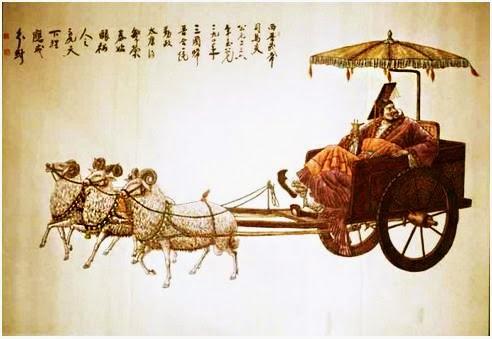 Tấn Vũ Đế đi xe dê