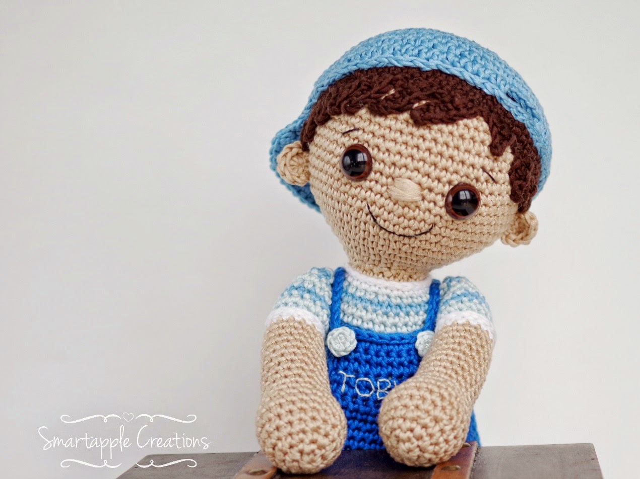 Amigurumi Boy Doll Pattern : Smartapple creations amigurumi and crochet: tobias amigurumi boy