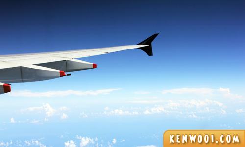 sky when flying