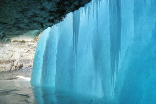 Cachoeira congelada