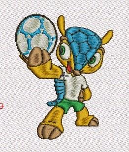 mascota del mundial pasado bordado