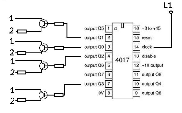 circuito astable con transistores led  oscilador para