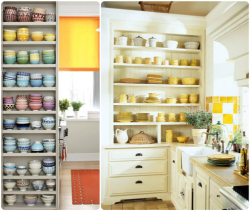 Design For Kitchen Shelves: Open Shelving In The Kitchen