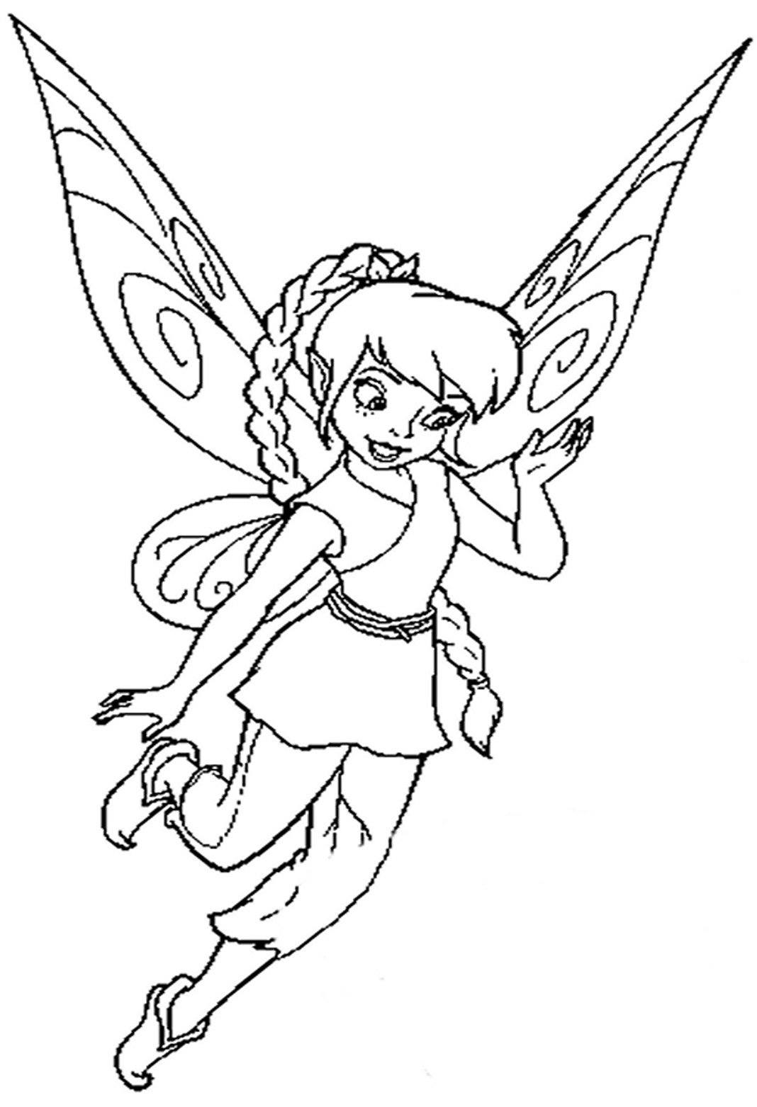 how to draw tinkerbell flying