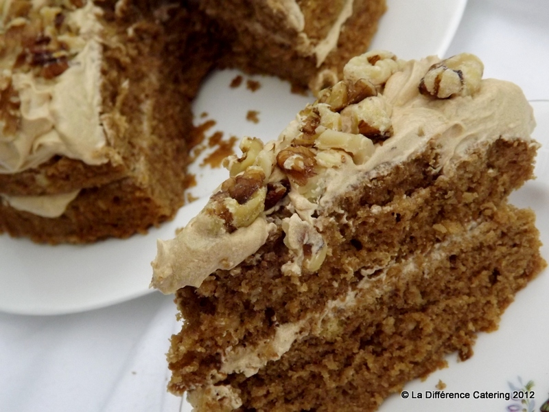 La Difference Catering: Coffee & Walnut Victoria Sandwich