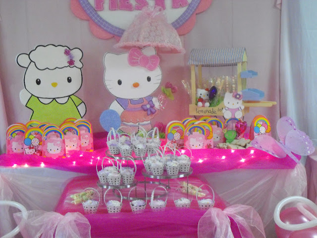 Fiesta hello kitty party ideas decoracion en fiestas - Ideas decoracion fiestas ...