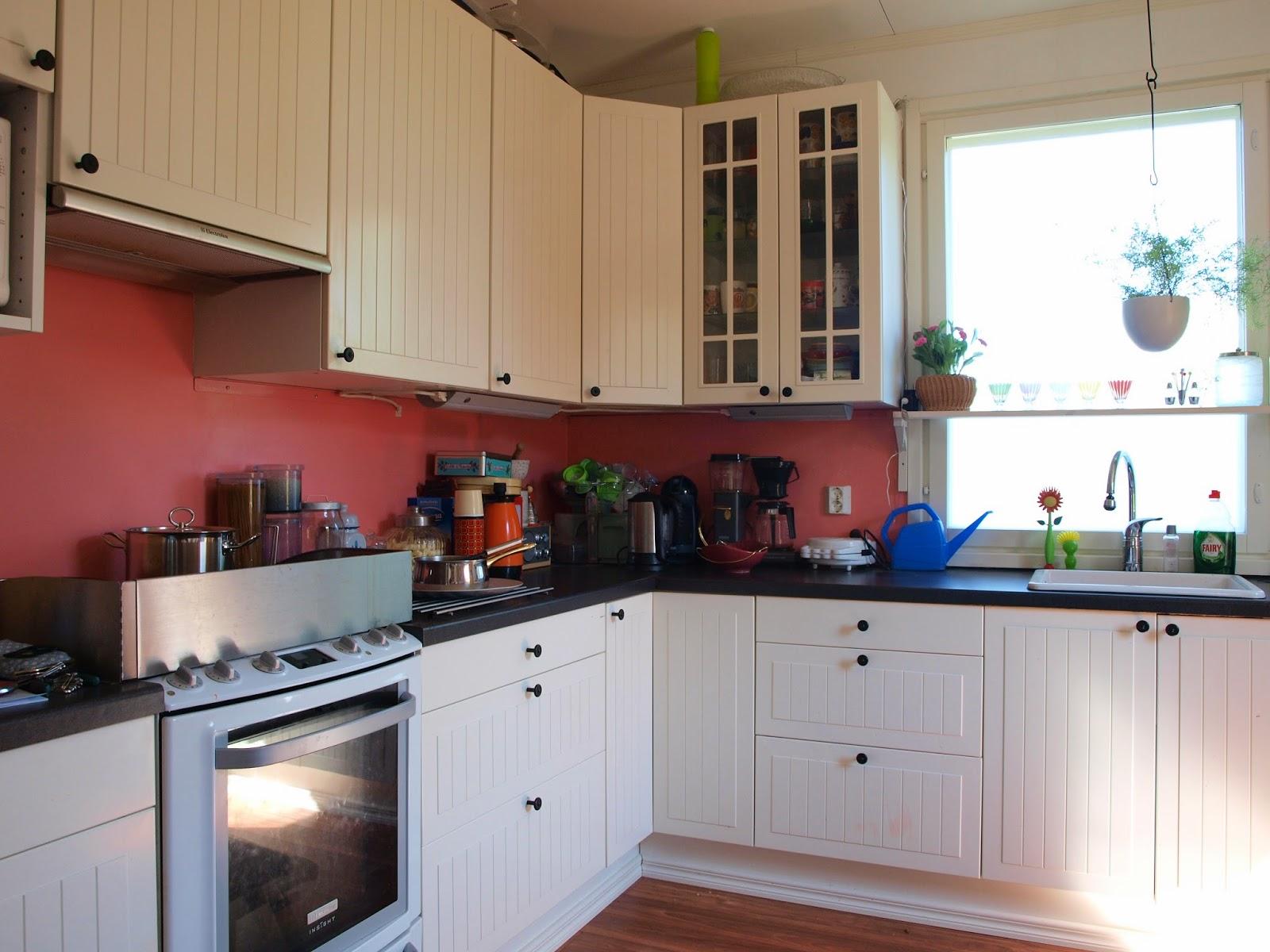 Ikea kitchen pink vintage