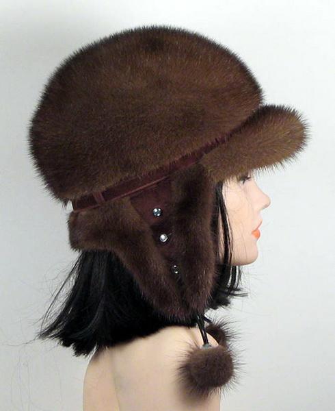 женские норковые шапки 2013, шапки из норки фото