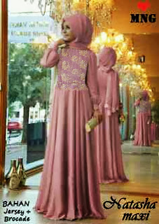 Restok - Natasha Maxi Dress Warna Pink