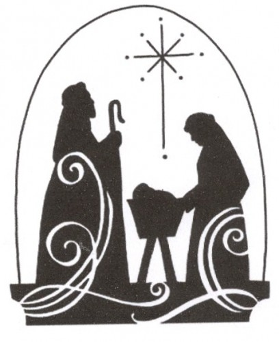 Nativity Silhouette Template 2012 seasons greetings from
