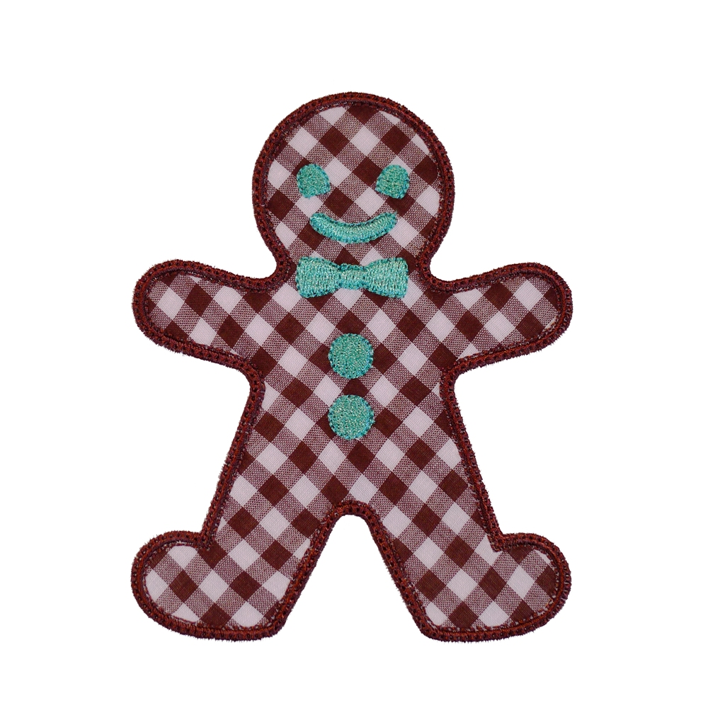 big dreams embroidery gingerbread man machine embroidery applique design pattern. Black Bedroom Furniture Sets. Home Design Ideas