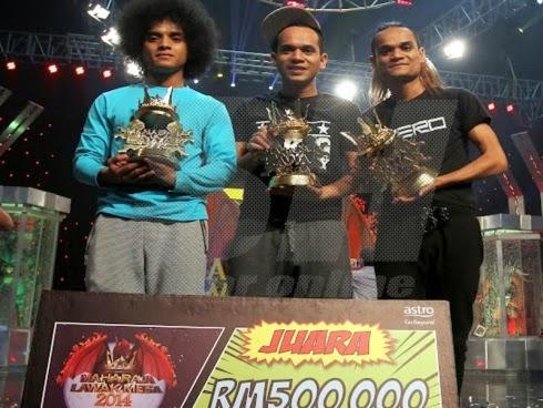 Zero muncul juara Maharaja Lawak Mega 2014