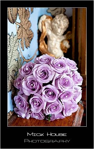 The beautiful pink wedding bouquet