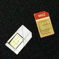 fit nano-SIM card into template