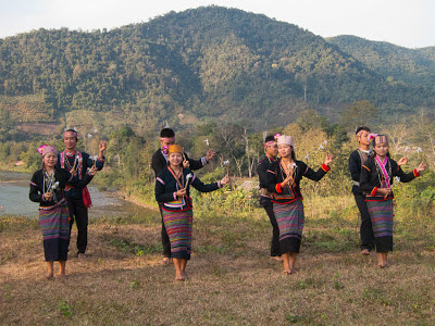Photo: traditional dancers in northern Laos