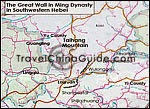 Map of Great Wall in Southwestern Hebei