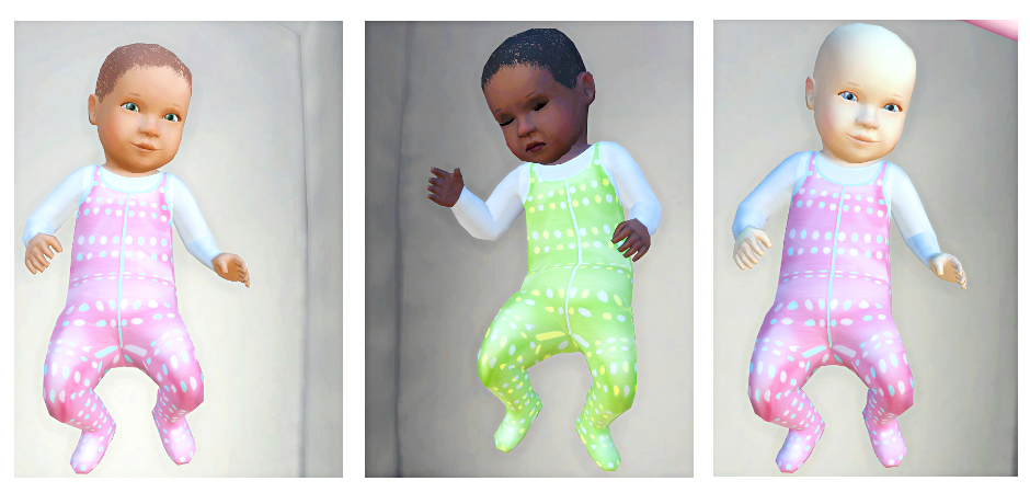 My Sims 4 Blog: Baby Makeover - Default Replacement by ...