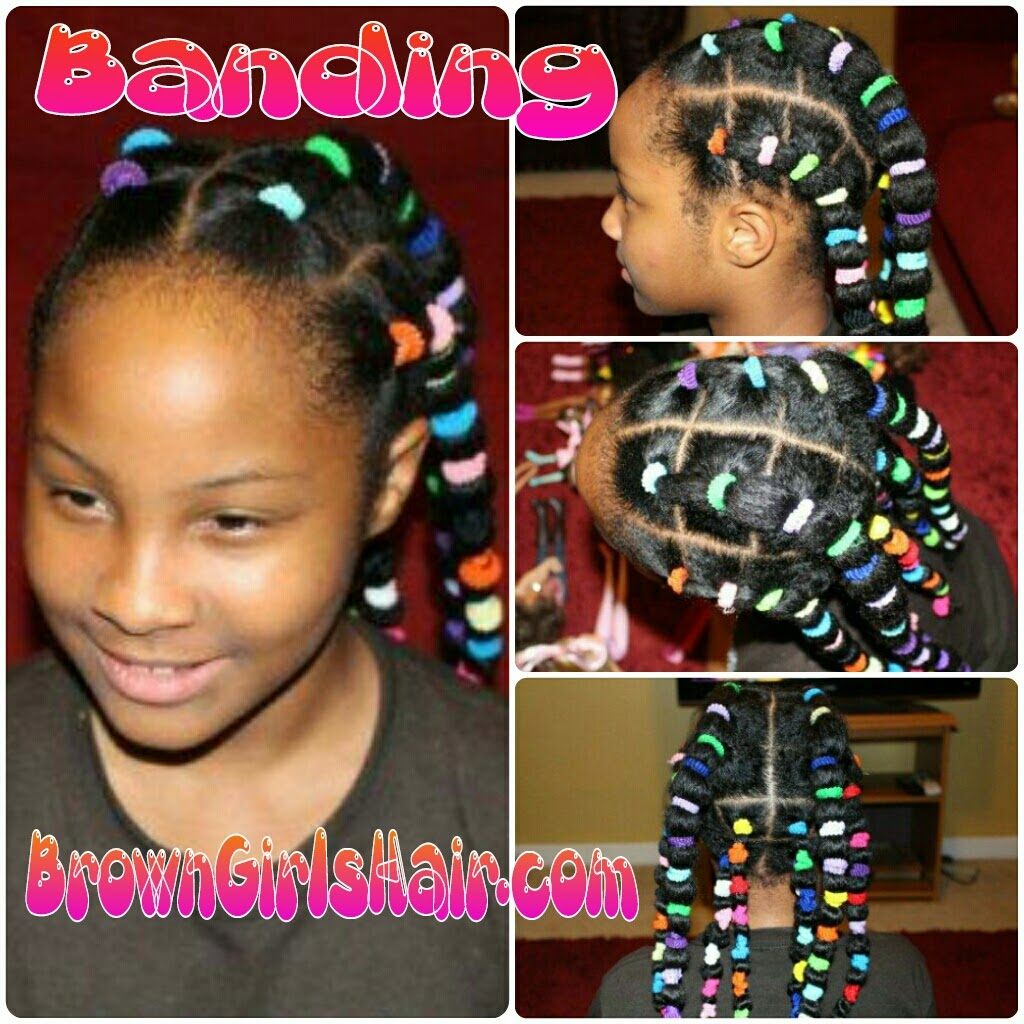 banding, natural, hair, stretch,no heat, black, biracial, hair care,