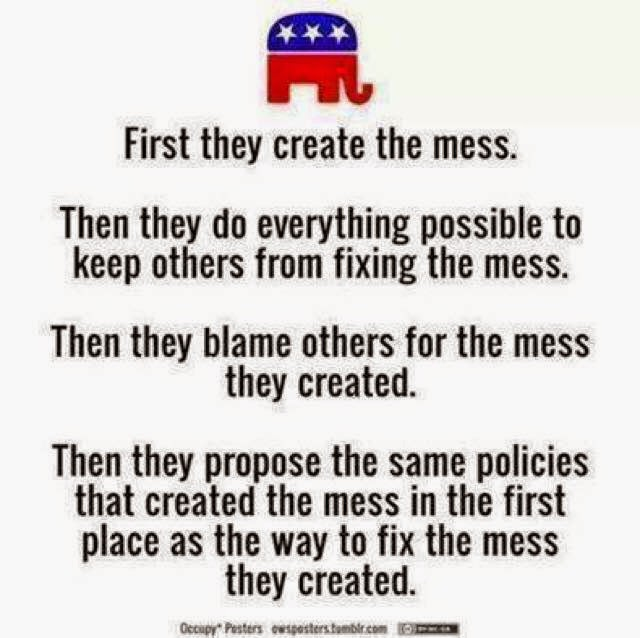 Republicans Create the Mess