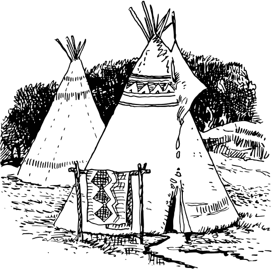 native american longhouse coloring pages - photo#44
