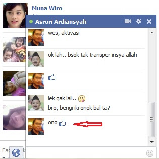 membuat smile di chat facebook