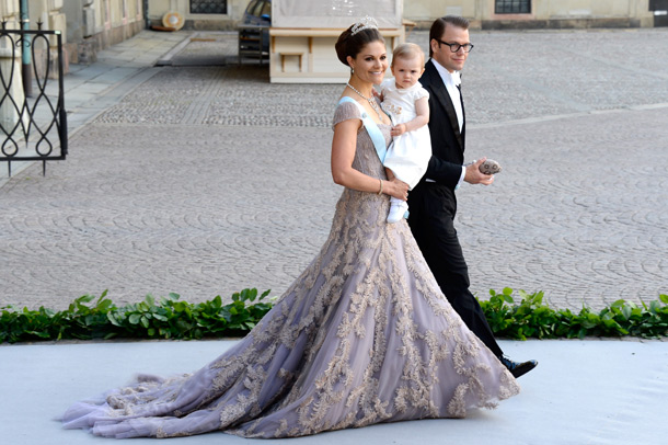Victoria Crown Princess Of Sweden Duchess Vastergotland Wore A Lilac Colored Silk Organza Gown With Layers Hand Dyed Tulle