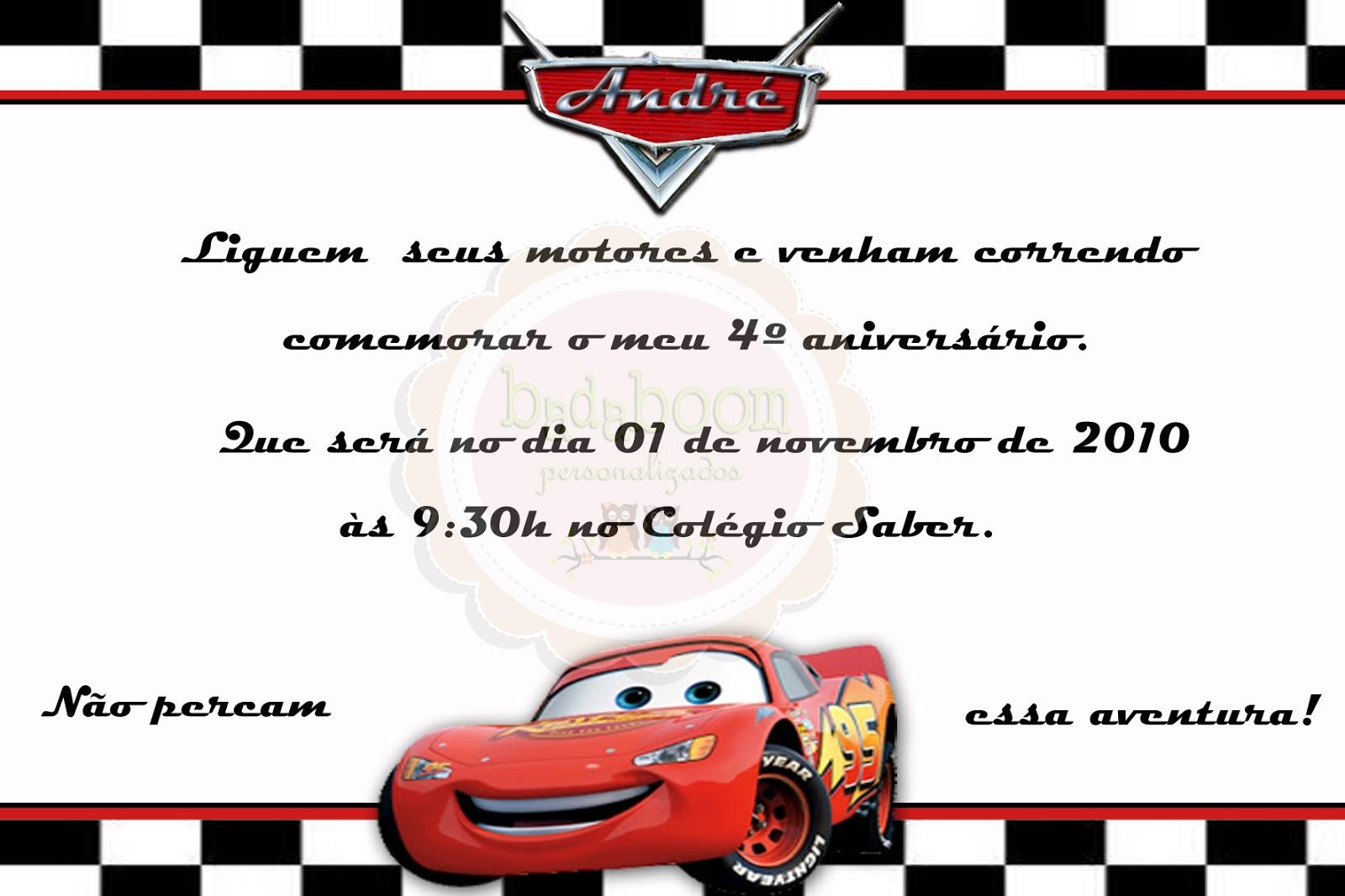 Convite Digital Carros Disney Mcqueen Car Interior Design