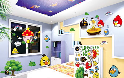 Angry Bird Wall Decoration For Children Bedroom