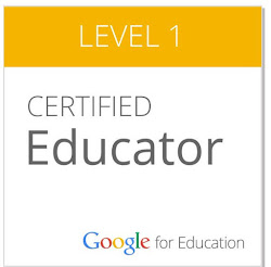 I am a Google Certified Educator!