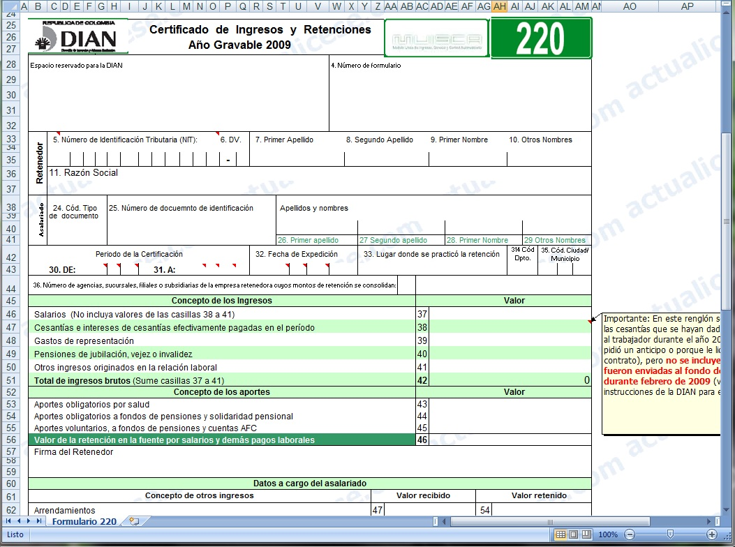 Certificado Declaracion De Renta Dian 2016