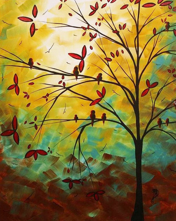 cuadros pinturas oleos cuadros verticales de paisajes