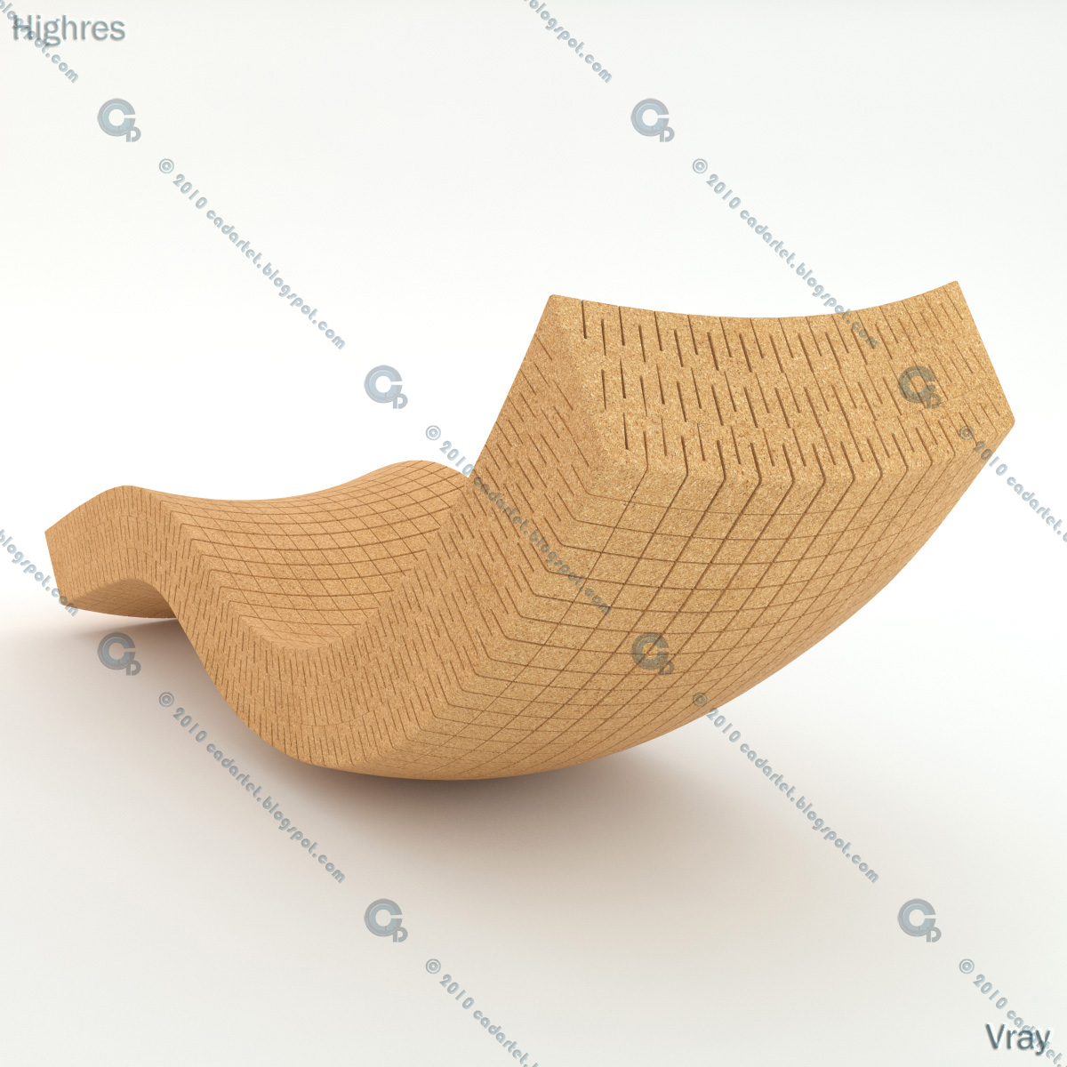 Cadartet cork chaise longue 3d model for Chaise modele
