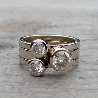 moissanite stacking rings